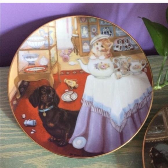 """Vintage 1990 """"Break Time"""" Plate"""